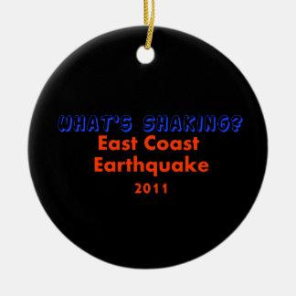 East Coast Earthquake  2011 - What's Shaking? Christmas Ornament