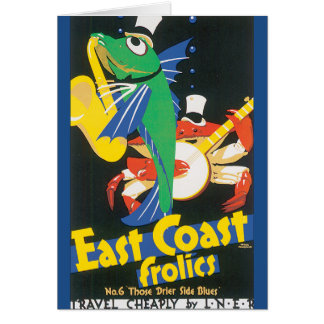 East Coast Frolics Vintage Travel Poster Card