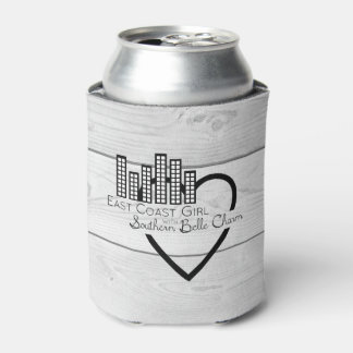 East Coast Girl with Southern Belle Charm Can Cooler