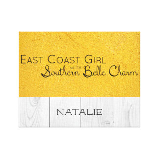 East Coast Girl with Southern Belle Charm Canvas Print