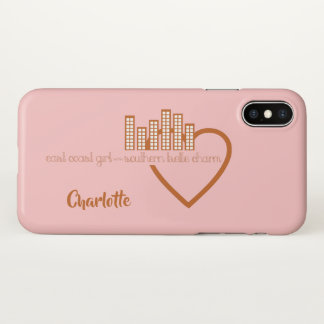 East Coast Girl with Southern Belle Charm iPhone X Case