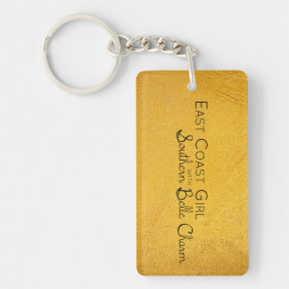 East Coast Girl with Southern Belle Charm Key Ring