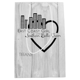 East Coast Girl with Southern Belle Charm Medium Gift Bag