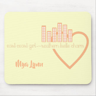East Coast Girl with Southern Belle Charm Mouse Pad