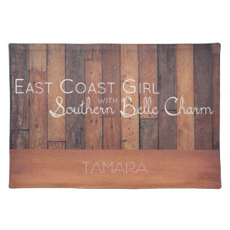 East Coast Girl with Southern Belle Charm Placemat
