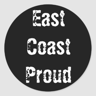 East Coast Proud Black Round Sticker