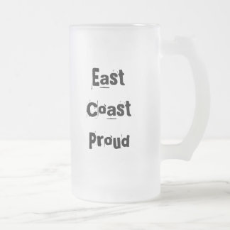 East Coast Proud Frosted Glass Mugs