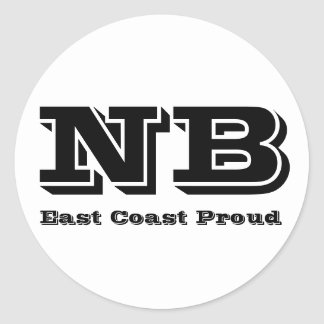East Coast Proud New Brunswick Sticker