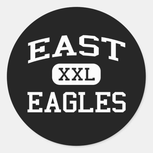 East - Eagles - East High School - Pueblo Colorado Round Sticker