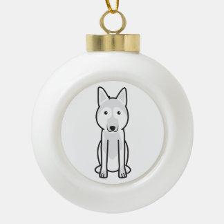 East European Shepherd Dog Cartoon Ceramic Ball Decoration
