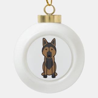 East European Shepherd Dog Cartoon Ornament