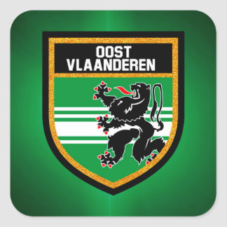 East Flanders Flag Square Sticker