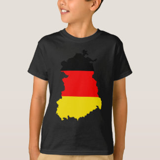 East-Germany Flag Map full size T-Shirt