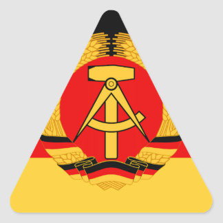 East Germany Flag Triangle Sticker