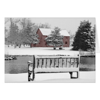 East Hampton Blacksmith Winter Scene Card