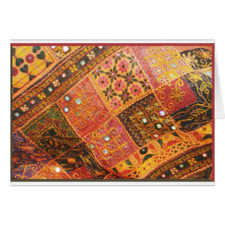 East Indian Fabrics Card