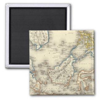 East Indies 2 Square Magnet