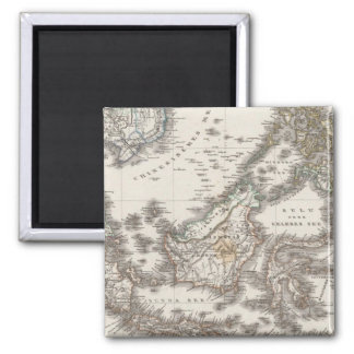East Indies 3 Square Magnet