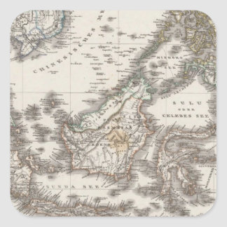 East Indies 3 Square Stickers
