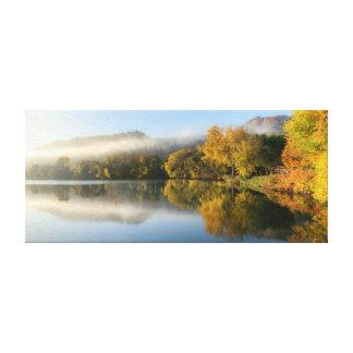 "East Lake Reflection 23x10  .75"" Canvas Print"