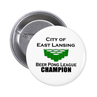 East Lansing Beer Pong Champion Button