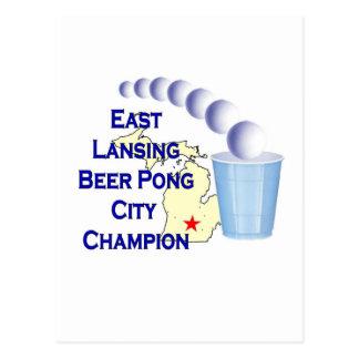 East Lansing Beer Pong Champion Post Card