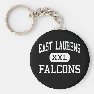 East Laurens - Falcons - High - Dublin Georgia Basic Round Button Key Ring