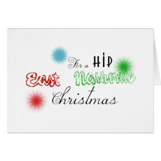 East Nashville Customized Christmas Decal Card