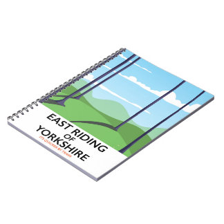 East Riding of Yorkshire travel poster Notebook