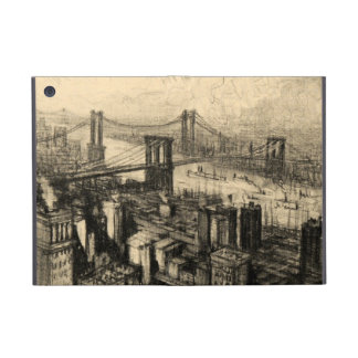 East River Bridges New York City Vintage Cover For iPad Mini