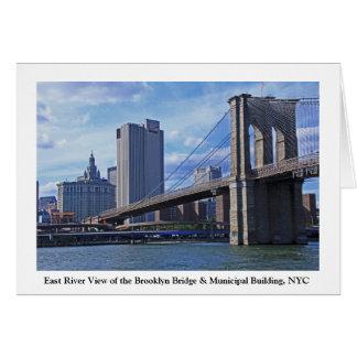 East River Brooklyn Bridge Municipal Building Card