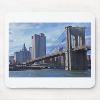 East River: Brooklyn Bridge & Municipal Building Mouse Pad