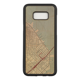 East San Francisco Topographic Map Carved Samsung Galaxy S8+ Case