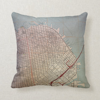 East San Francisco Topographic Map Cushion