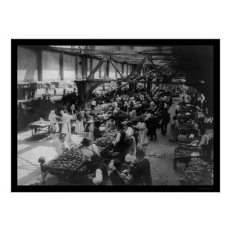 East Side Food Market in New York City 1915 Poster