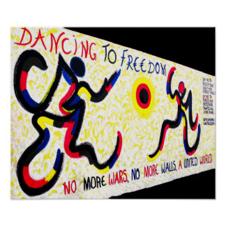 East Side Gallery,Berlin Wall,Dancing Freedom Poster