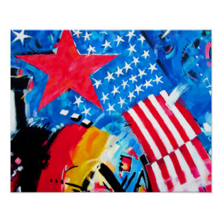 East Side Gallery, Berlin Wall, Flags Poster