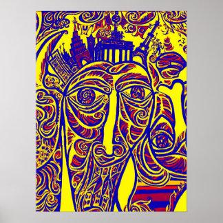 East Side Gallery, Berlin Wall, Modern Art (w30bry Poster