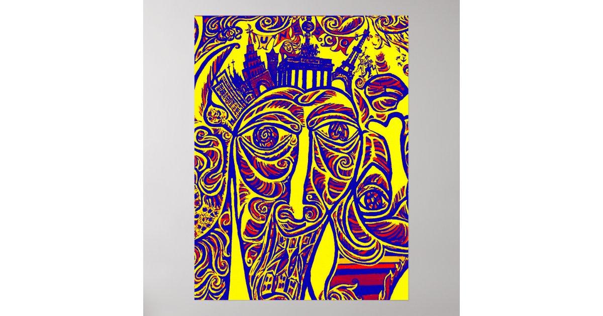 East Side Gallery Berlin Wall Modern Art W30bry Poster