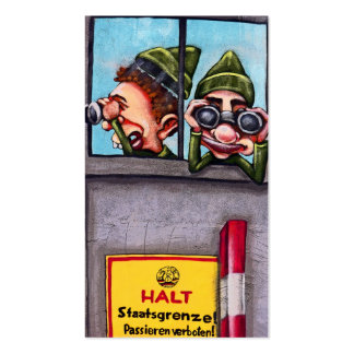 East Side Gallery, Berlin Wall, Sentries, Guards Pack Of Standard Business Cards