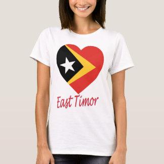 East Timor Flag Heart T-Shirt
