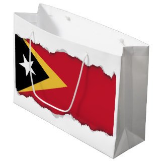 East Timor Flag Large Gift Bag