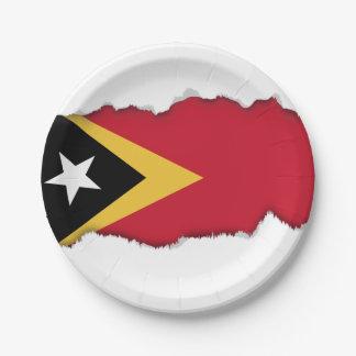 East Timor Flag Paper Plate
