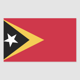 East Timor Flag Rectangular Sticker