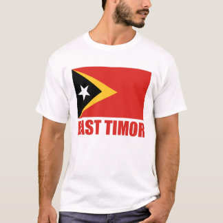 East Timor Flag Red Text T-Shirt