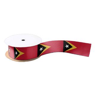 East Timor Flag Satin Ribbon