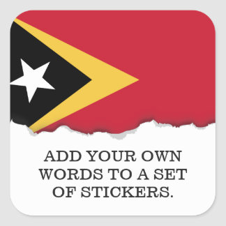 East Timor Flag Square Sticker