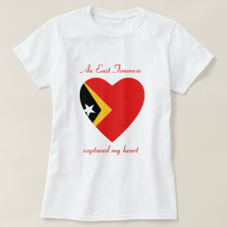 East Timor Flag Sweetheart T-Shirt