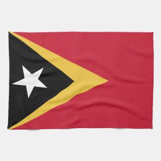 East Timor Flag Tea Towel