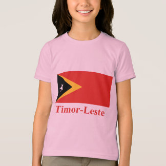 East Timor Flag with Name in Portuguese T-Shirt